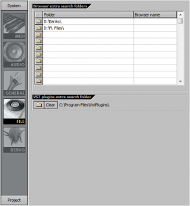 FL Studio - файловые настройки