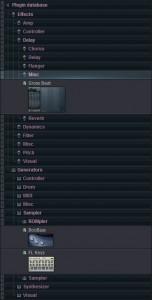Упорядочивание плагинов в FL Studio